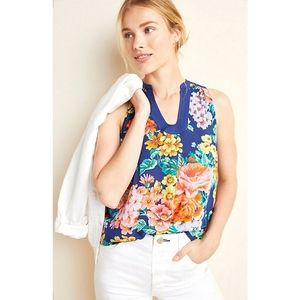 Anthro Melange Bright Floral Sleeveless Top 8